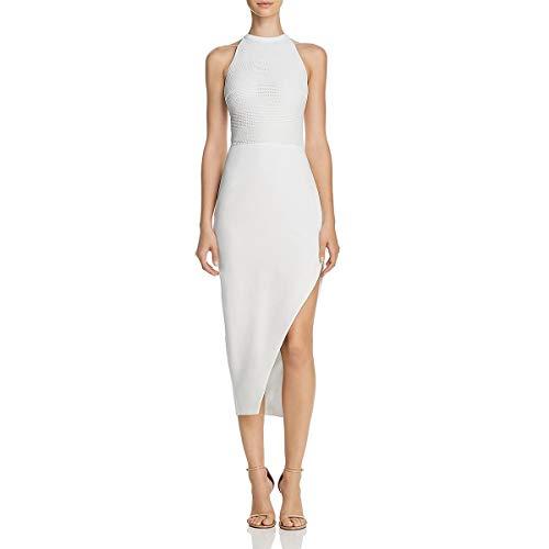 StyleStalker Womens Tencel Crochet Party Dress Ivory XS
