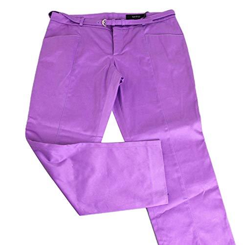 Gucci Women's Purple Cotton Elastane Capri Belted Horsebit Belt Pant