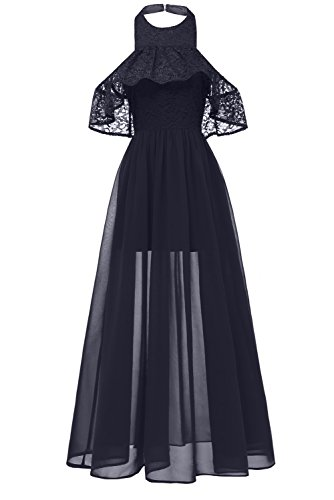 MILANO BRIDE Women's Elegant Lace Cocktail Prom Dress