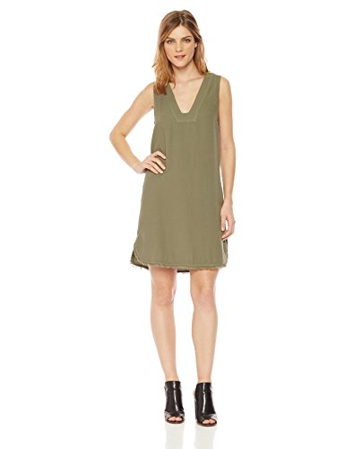 Splendid Women's Vneck Tunic Dress, Military Olive XS