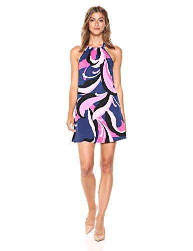 Trina Trina Turk Women's Juju Halter Neck Dress