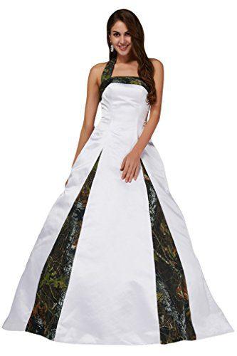 MILANO BRIDE Unique Ball Gown Halter Camo Wedding