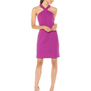 Trina Trina Turk Women's Fabiana Cross Neck Dress