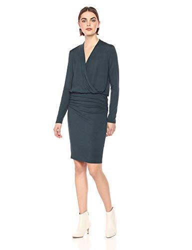 Michael Stars Women's Jules Jersey Long Sleeve Cross Front Dress