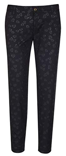 Gucci Women's Black Denim Heart Print Holiday Jeans Pants