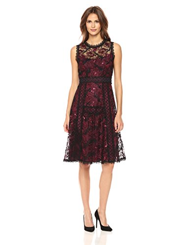 Nanette Lepore Women's Ruby Dress, Black/Scarlet