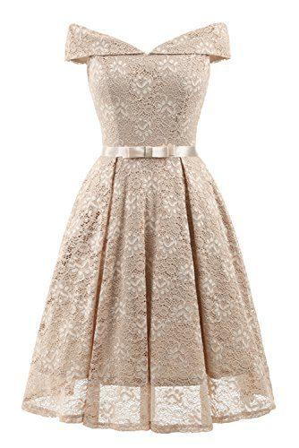 MILANO BRIDE Women's Vintage Lace Overlay Elegant