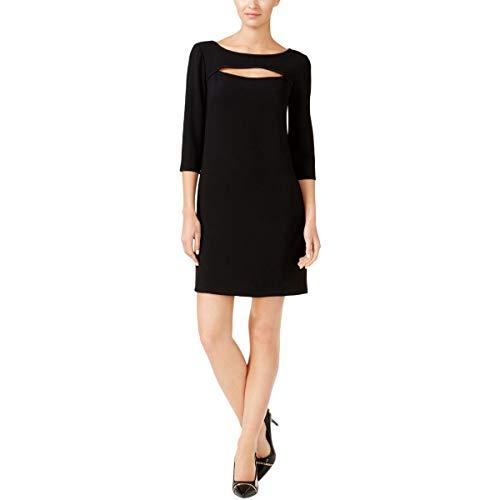 Trina Turk Women's Marlowe Cutout Crepe Dress, Black