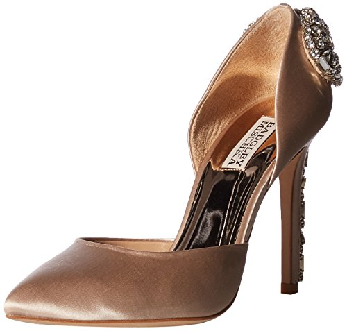 Badgley Mischka Women's Parker Pump Nude Satin