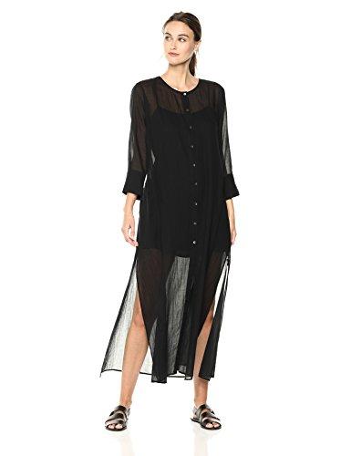 Theory Women's 3/4 Sleeve Weekend Buttondown Maxi Dress