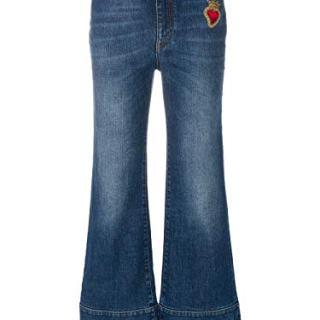 Dolce e Gabbana Women's Blue Cotton Jeans