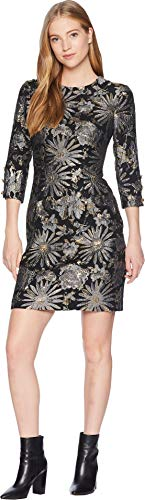 Trina Turk Women's Moonrise Dress, Gray Pearl Jacquard