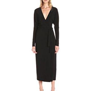 Norma Kamali Women's Dolman Wrap Dress V-Neck Line