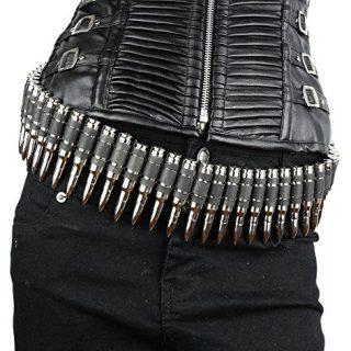 Real Bullet Belt Caliber Nickel Shell M16 Dark Link