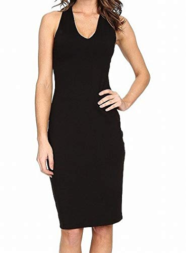 Susana Monaco Women's Chloe V-Neck Dress Black Large