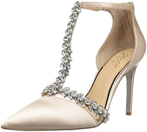 Badgley Mischka Jewel Women's Meena Pump Champagne Satin