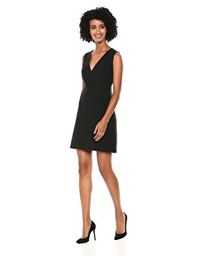 Theory Women's Sleeveless Easy V Shift Dress, Black 2
