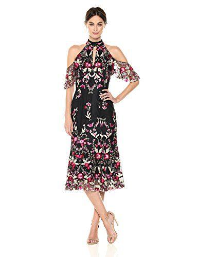 Shoshanna Women's Sausalito Dress, Fuchsia Multi, 10