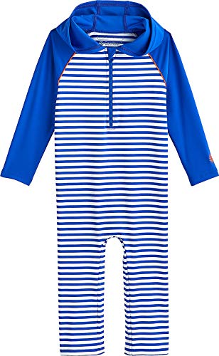 Coolibar UPF 50+ Baby Hooded One Piece Swimsuit