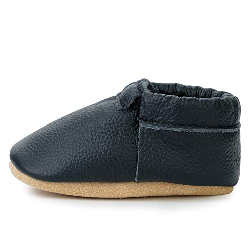 Fringeless Genuine Leather Baby Moccasins - Boys and Girls Shoes