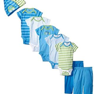 Gerber Baby-Boys Newborn Seriously Cute 9 Piece Bodysuits
