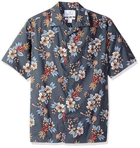 Palms Men's Relaxed-Fit 100% Cotton Tropical Hawaiian Shirt