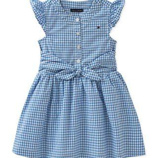 Tommy Hilfiger Baby Girls Dress, Blue 18M