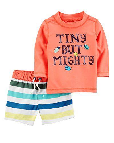 Carter's Baby Boys' 2 Piece Tiny But Mighty Rashguard Set