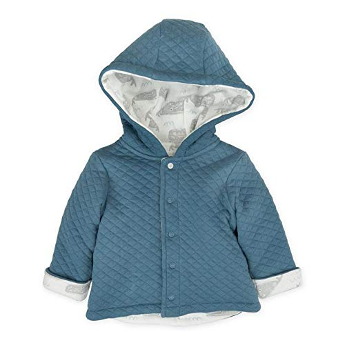 Mac & Moon Baby Boy Outwear, Blue Quilted Kimono Jacket