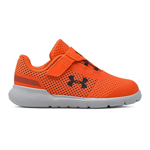 Under Armour Boys' Infant RN6 Sneaker Orange Glitch