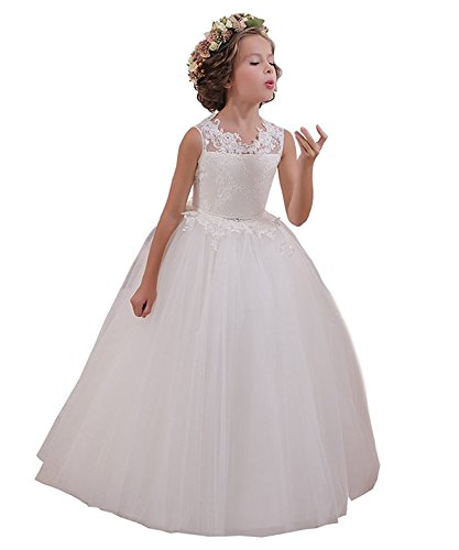 Abaowedding Ball Gown Lace up Flower First Communion Girl Dresses