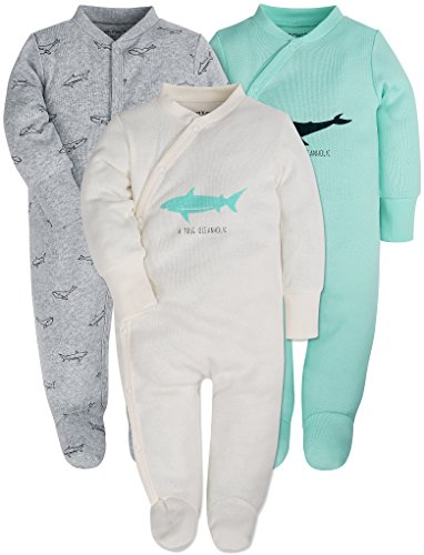 Baby 3-Pack Footed Pajamas Boys Girls Long Sleeve 100% Cotton