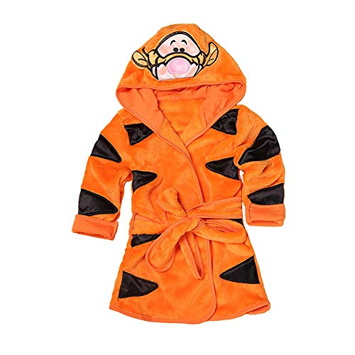 Baby Winter Flannel Hooded Pajamas Sleep Robe Bathrobe