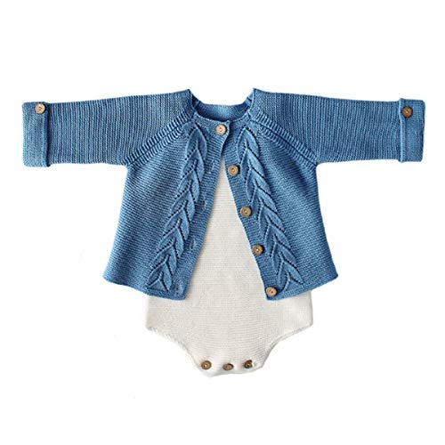 Baby boy Blue Sweater and Romper Set (3-6 Months)