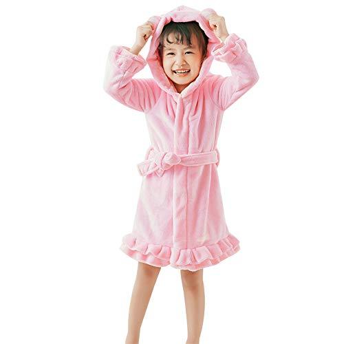 Girls Boys' Plush Flannel Bear Ear Pajamas Baby Warm Bathrobe