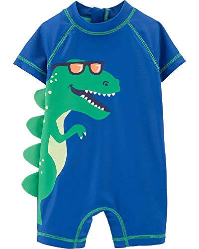Carter's 1 Piece Baby Boy's Dinosaur Rashguard Swim Bathing Suit