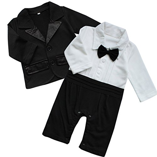 iiniim Baby Boy's 2Pcs Gentleman Wedding Formal Tuxedo