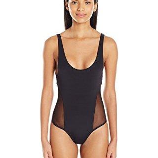Mara Hoffman Side Mesh Low Back One Piece Swimsuit
