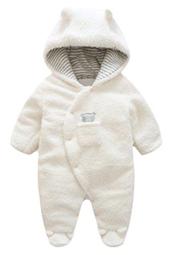 Toddler Baby Winter Warm Footies Romper Thick Wool