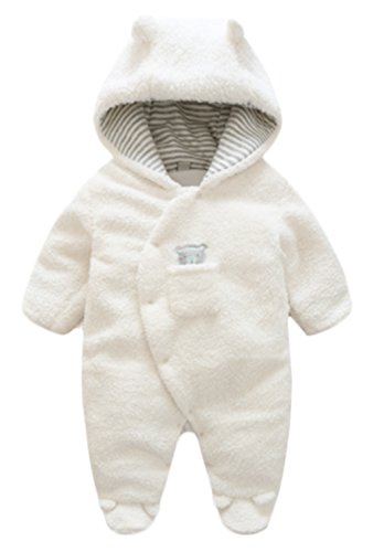 Toddler Baby Winter Warm Footies Romper Thick Wool