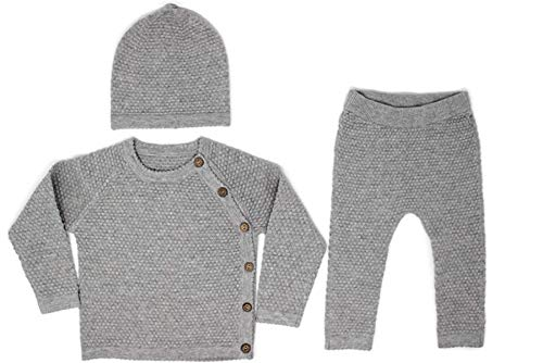Unisex Gray Baby Layette Set (9-12 Months)