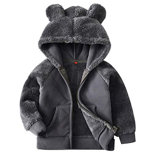 Goodkids Bear Ears Shape Fleece Warm Hoodies Clothes