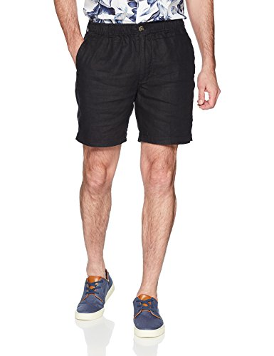"""Palms Men's Relaxed-Fit 7"""" Inseam Linen Short with Drawstring"""