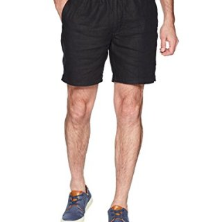 "Palms Men's Relaxed-Fit 7"" Inseam Linen Short with Drawstring"