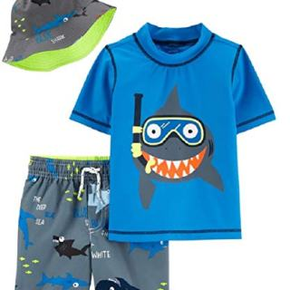 Carter's Boys' Rashguard Sets (Colorful Shark, 3T)