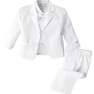 Spring Notion Baby Boys' White Classic Fit Tuxedo Set