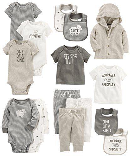 Carter's Baby 15-Piece Basic Essentials Set, Sheep Newborn