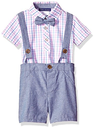 Bonnie Baby Baby Boy's Coveralls and Short Sets, Blue/Pink 18M