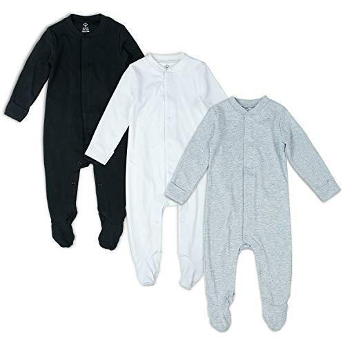OPAWO Solid Color Unisex Baby Footed Sleeper Pajamas