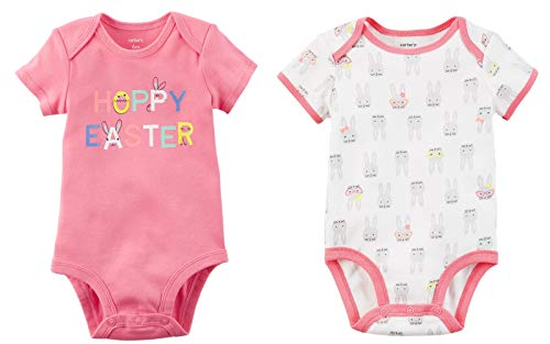 Carter's Baby Girl's Easter Outfit Set of 2 Bodysuits